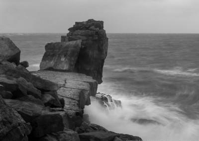 The Pulpit Portland, storms,Dorset coast