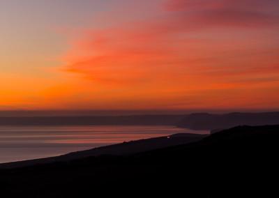 Chesil beach,sunset, Dorset coast
