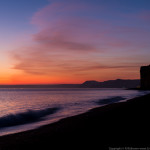 Winter sunset,Dorset,Hive Beach West Bay, Coast