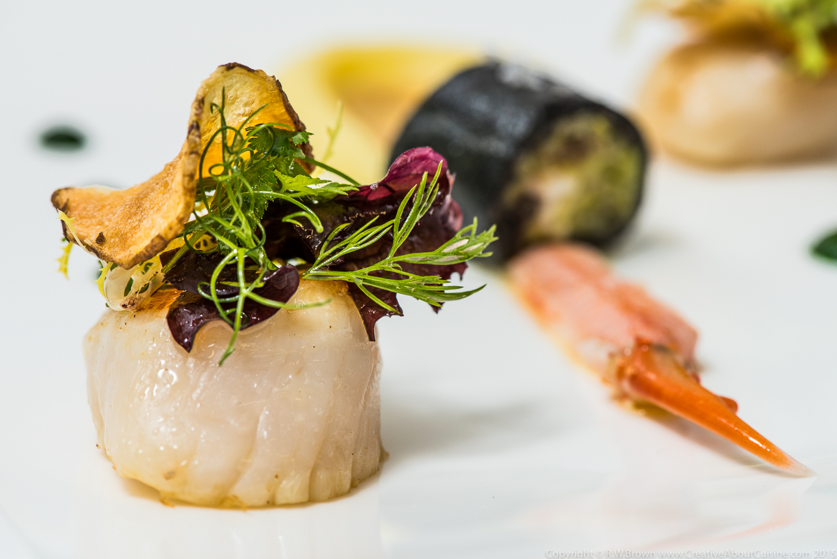 10 scallop and langoustine phillipe hardy creative about cuisine. Black Bedroom Furniture Sets. Home Design Ideas