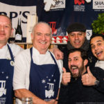 L to R Adrian Oliver, Rick Stein, Sat Bains, Mark Sargeant and Paul Ainsworth